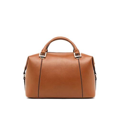 Cartera café satchel para dama brown