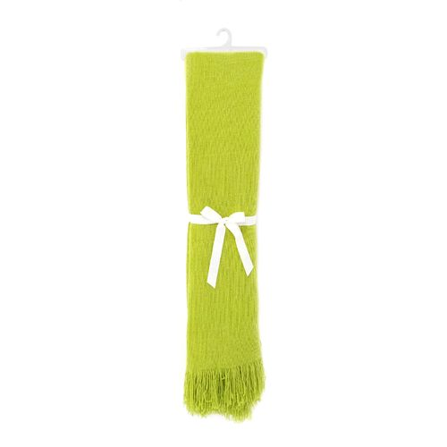Frazada acrilíca tejido verde limón 130x150cm