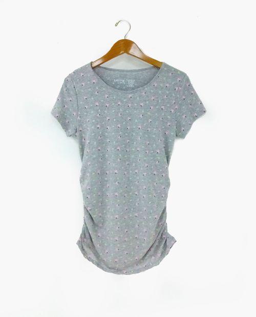 Camiseta c/redondo aop flores
