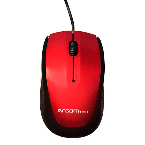 Mouse Argom USB rojo 3d