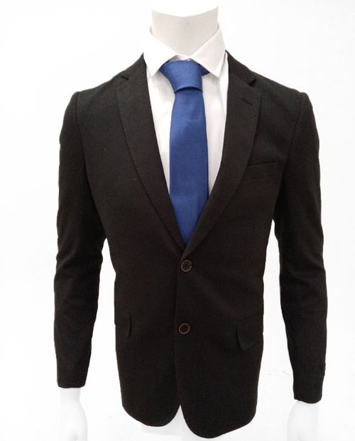Blazer knit negro