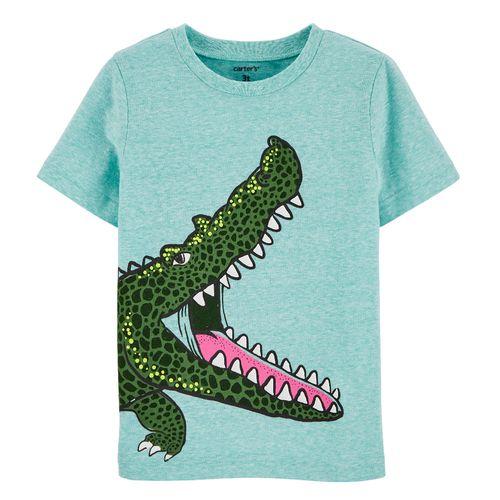 Camisa aqua de cocodrilo para niño