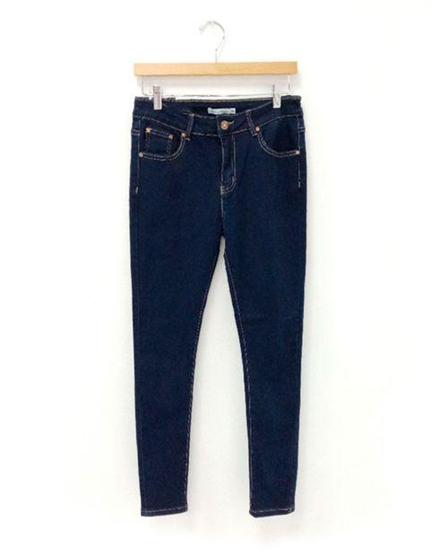 Jeans de dama 5 bolsillos skinny dk blue