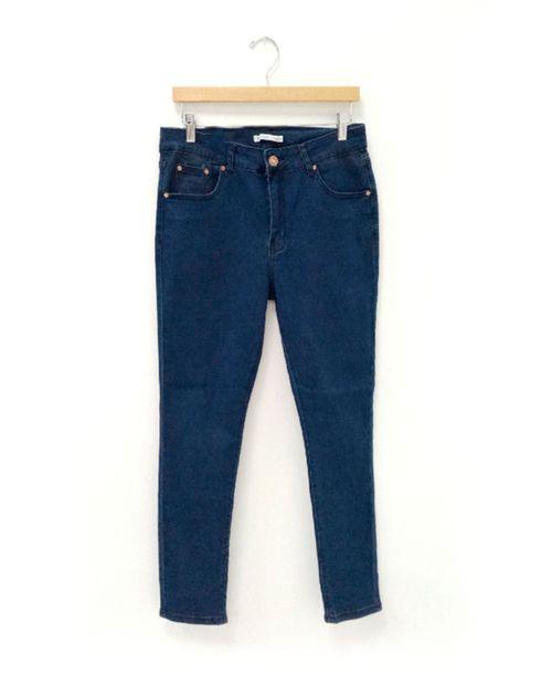 Jeans de dama 5 bolsillos skinny med blue
