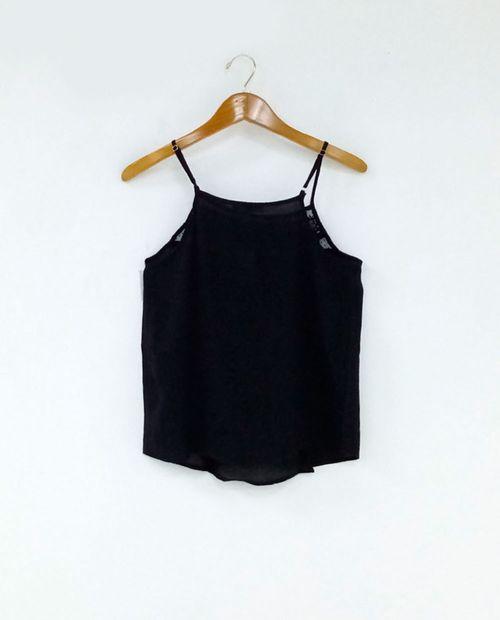 Blusa  tank black fb
