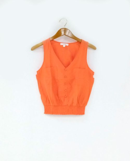 Blusa  solida orange