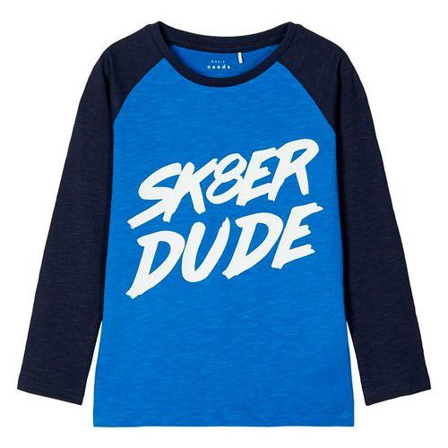 """Camisa m/l azul """"sk8er dude"""" imperial blue"""