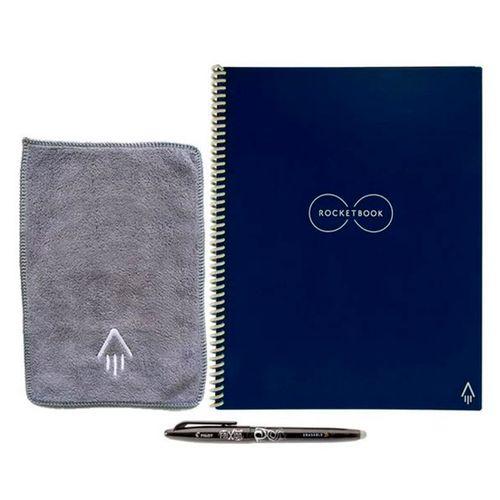 Rocketbook  cuaderno reutilizable  liso  negro con boligrafo de frixion