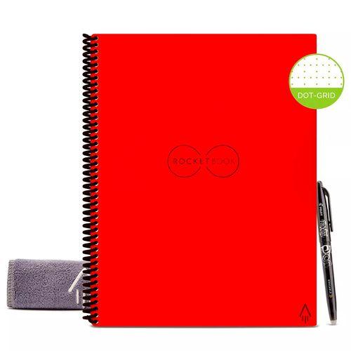 Rocketbook  cuaderno reutilizable liso rojo con boligrafo de frixion