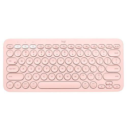 Teclado bluetooth rosado k380