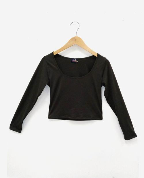 Blusa  manga larga negro