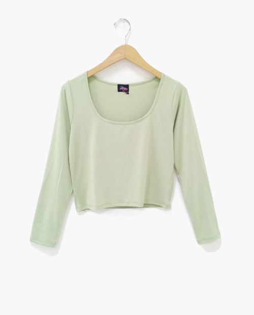 Blusa  manga larga verde claro
