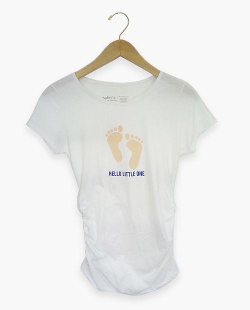 Camiseta c/redondo ao prt hello little one