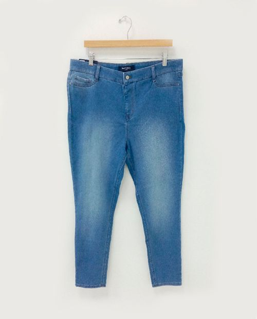 Jeans skinny high rise  pull on azul claro