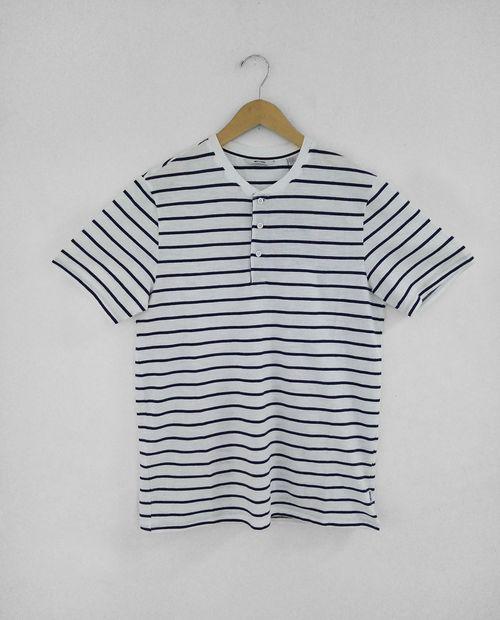 Camisa - open neckline masculino  dress blues