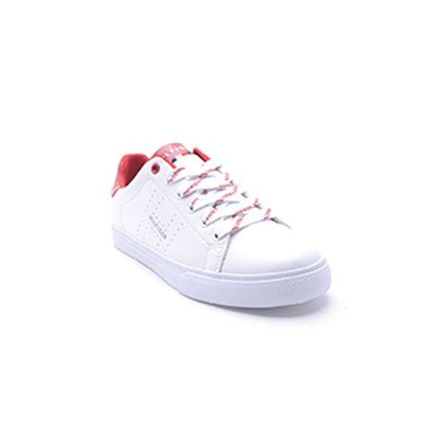 Calzado casual tommy hilfiger sneaker blanco con cintas para dama
