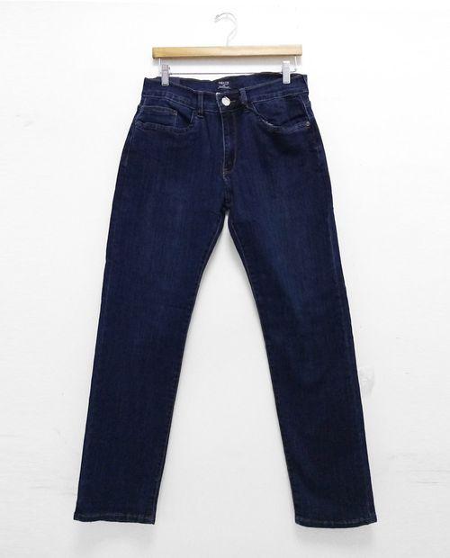 Jeans azul oscuro sin stretch