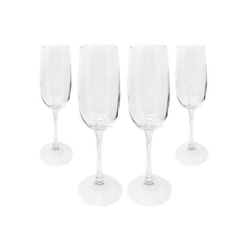 Set copas manzoni champagne 4pzs 8.4oz