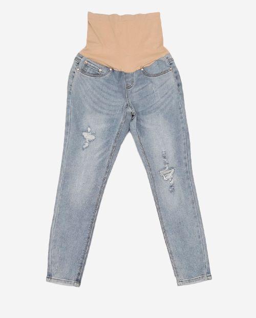 Jeans over belly lavado medio no destruction