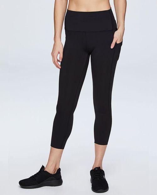 Legging capri solida negra
