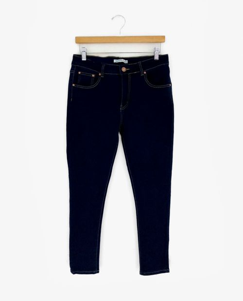 Jeans de dama 5 bolsillos skinny med dk blue