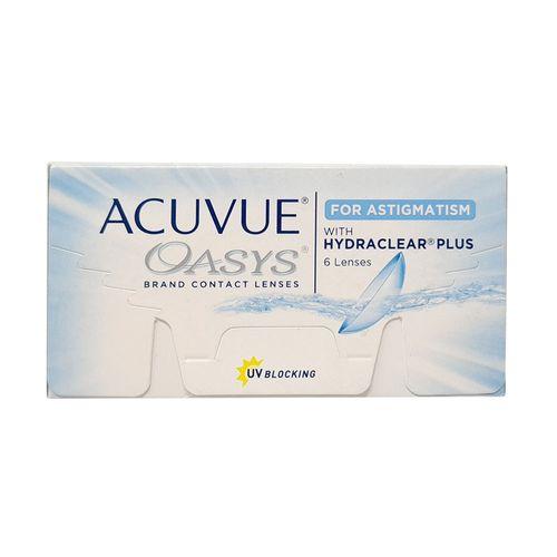 Lentes de contacto oasys astigmatismo caja 6