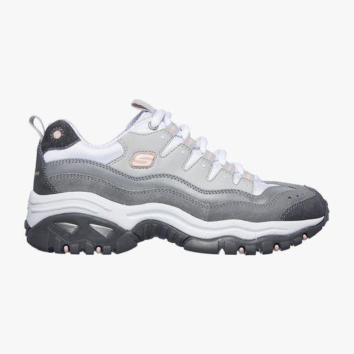 Calzado skechers deportivo casual color gris para dama