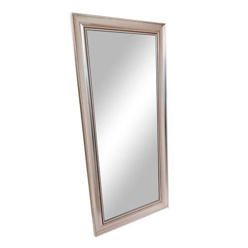 Espejo con marco de poliestireno m345 plata 79x174 cm