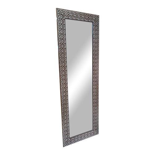 Espejo con marco de poliestireno m304  plata 40x121 cm