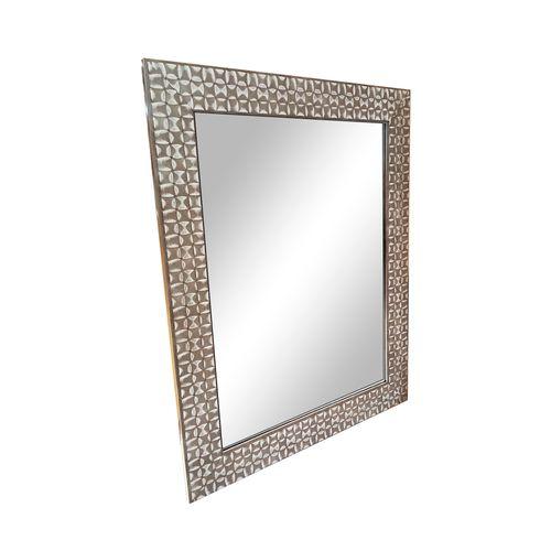 Espejo  con marco de poliestireno m304 plata 55x70 cm
