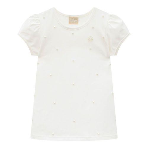 Blusa  ivory con perlas 0452 blanquecino