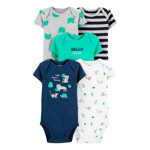 5piezas mamelucos de animalitos para bebé niño