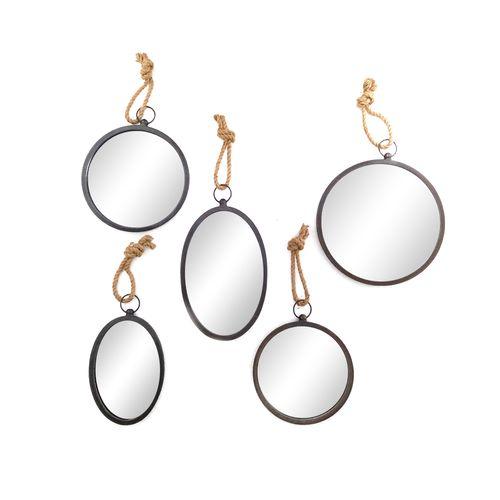5 set espejos circulares