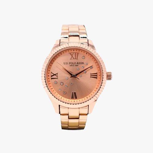 Reloj analogo metalico color oro rosa para dama