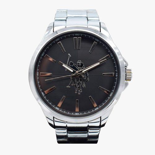 Reloj analogo metalico plateado para caballero