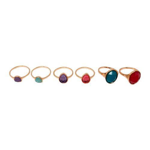 Set anillos piedras