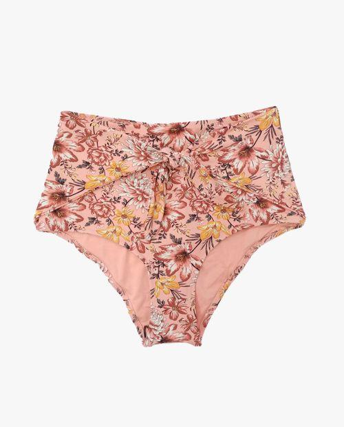 Bikini braguita alta flores
