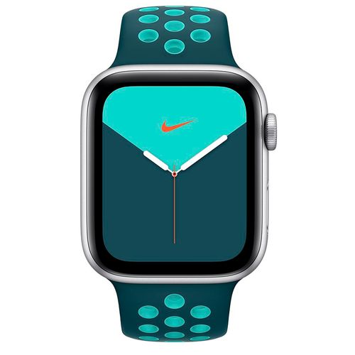Apple watch serie 5 40mm silver Nike turquoise green