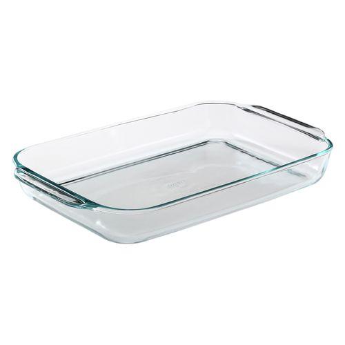 Bandeja para hornear de vidrio rectangular 4qt