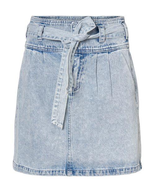 Falda azul claro denim
