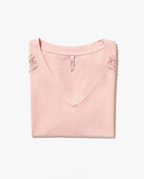 Camiseta detalle puntilla