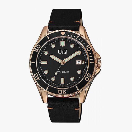 Reloj Analógico para caballero color negro con dorado