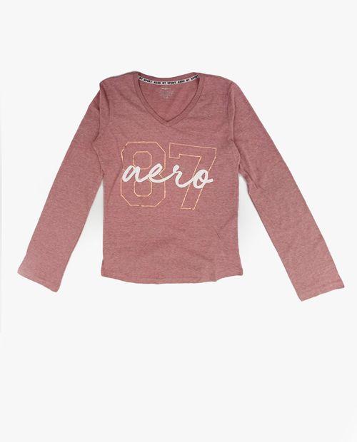Blusa  knit ml pink