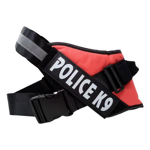 Arnés policia K9 rojo extra grande