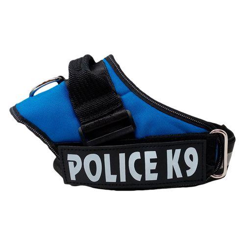 Arnés policia K9 azul grande