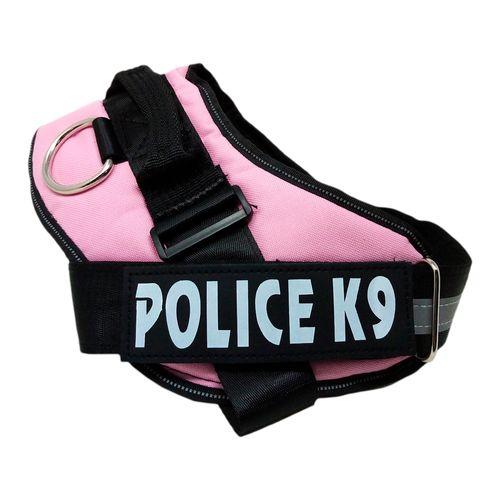 Arnés policia K9 rosado grande pequeña