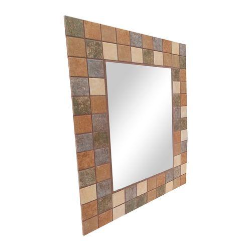 Espejo de cerámica estilo sevillano tonos café  61cm*50cm