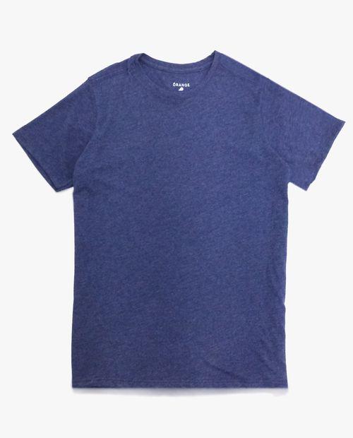 Camiseta crew neck navy htr