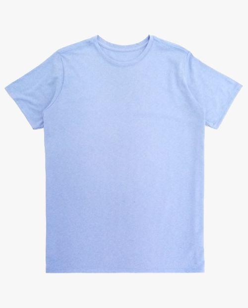Camiseta crew neck celeste htr