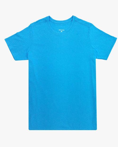 Camiseta crew neck aqua
